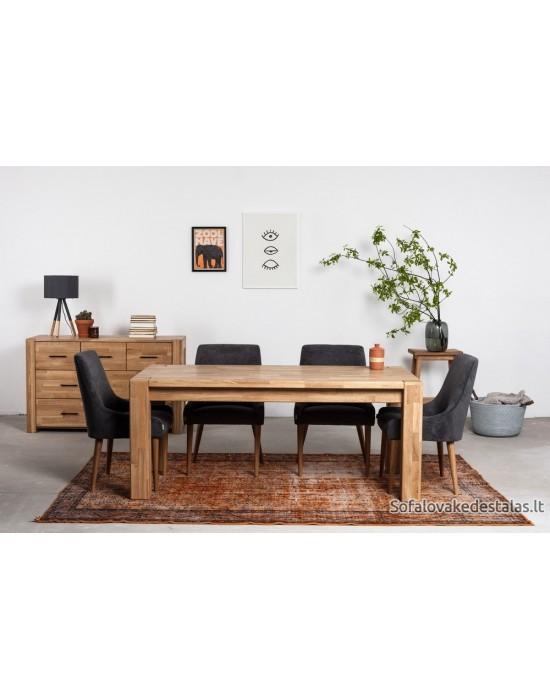 Dygiuotos medienos LAHTI 180/260X90  ąžuolinis, prasiilginantis, stalas