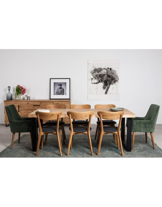 BERGAMO WAVE 200X100 industrinio stiliaus stalas