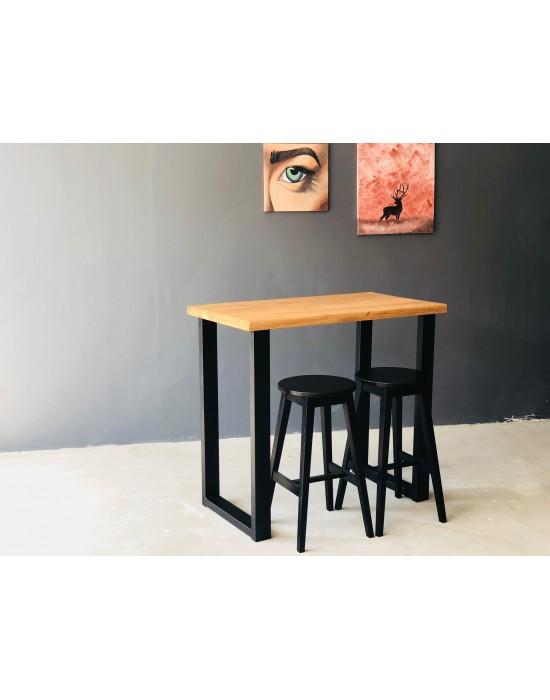 BERGAMO 110X60 ąžuolinis baro stalas