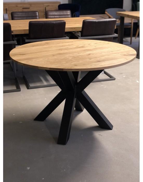 MODERNA APVALUS Ø100 industrinio stiliaus stalas
