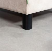 Medinės, juodai dažytos, cilindro