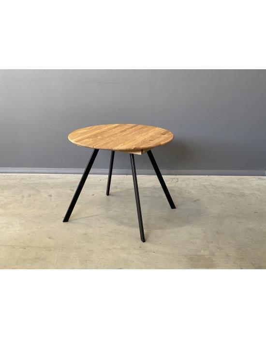 GENOVA TORI Ø90-128 apvalus, prasiilginantis, ąžuolinis stalas