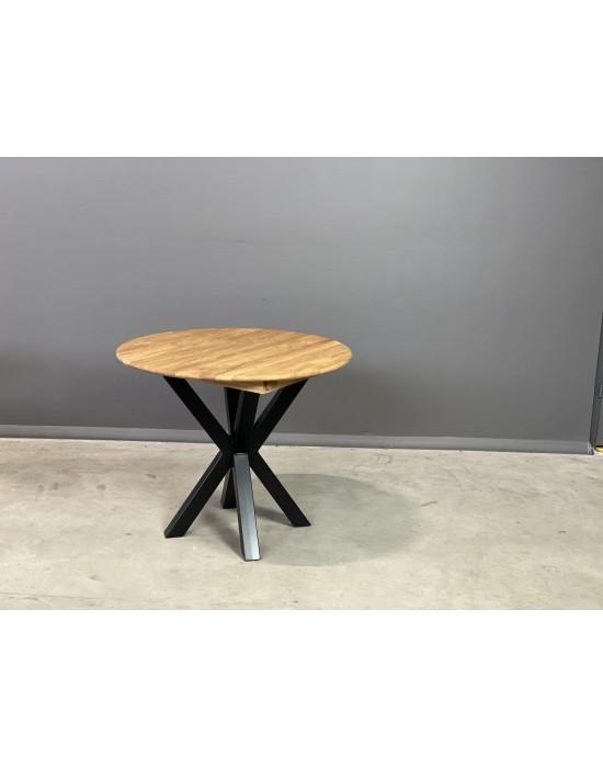 GENOVA MODERNA Ø90-128 apvalus, prasiilginantis, ąžuolinis stalas