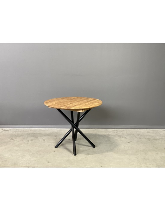 GENOVA SPYDER Ø90-128 apvalus, prasiilginantis, ąžuolinis stalas