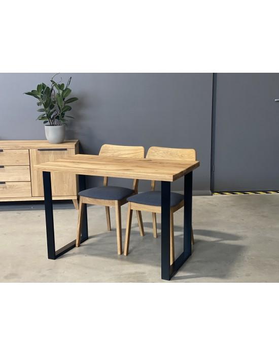 BERGAMO S 110X60 ąžuolinis stalas