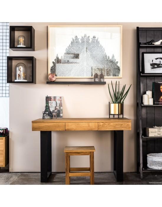 RETRO R 120x65 ąžuolinis darbo stalas