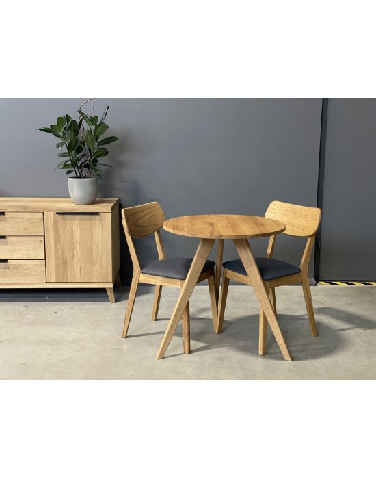 OAKY Ø70 apvalus ąžuolinis stalas