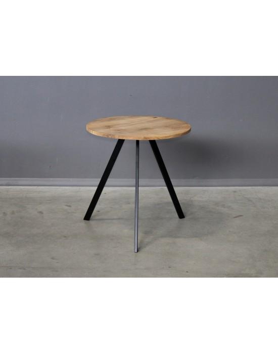 TORI Ø70 apvalus ąžuolinis stalas