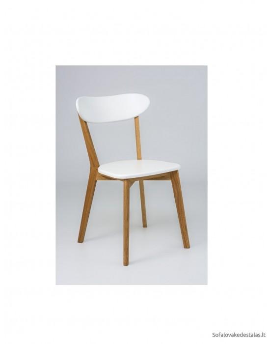 Ąžuolinė kėdė ISKU WHITE MDF