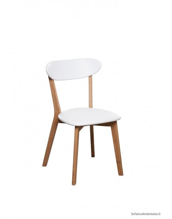 Ąžuolinė kėdė ISKU WHITE