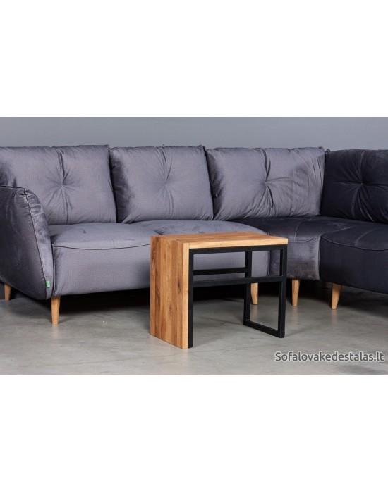 SELECT UNI ąžuolinis  35x48x55 šoninis staliukas