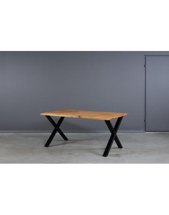 X 160x90 industrinio stiliaus ąžuolinis stalas
