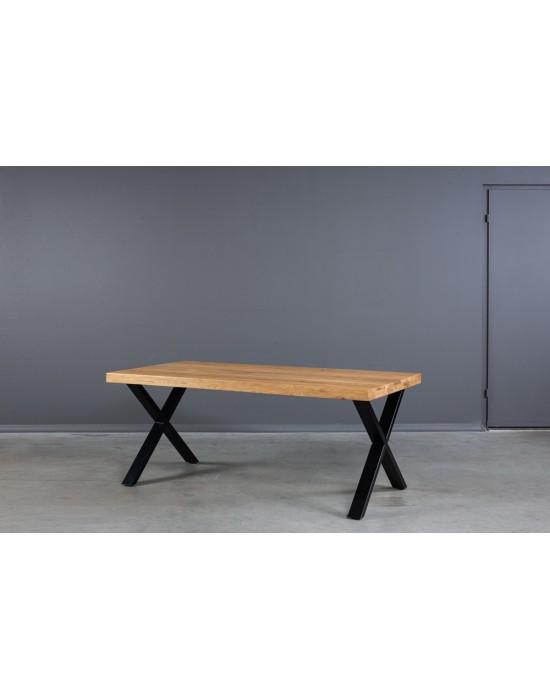 X 200X100 industrinio stiliaus  ąžuolinis stalas