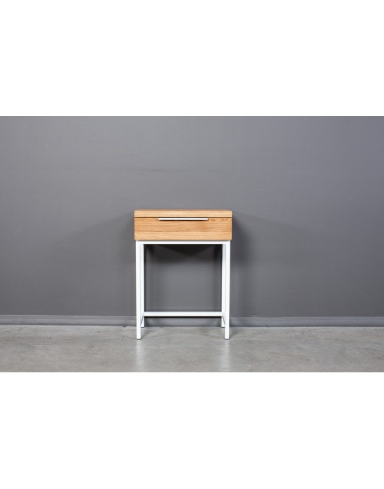 Ąžuolinis  darbo, kosmetinis  stalas  HUGO WHITE 60cm