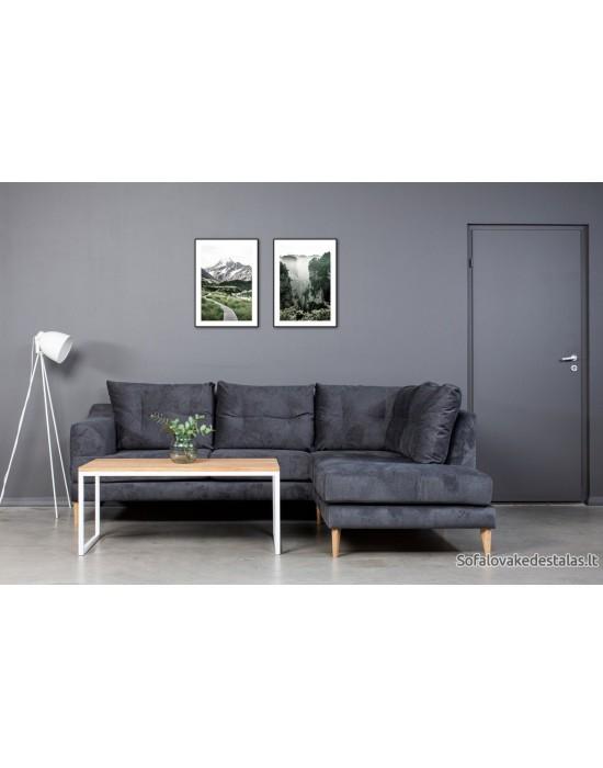 Select  White 110X60 ąžuolinis žurnalinis staliukas