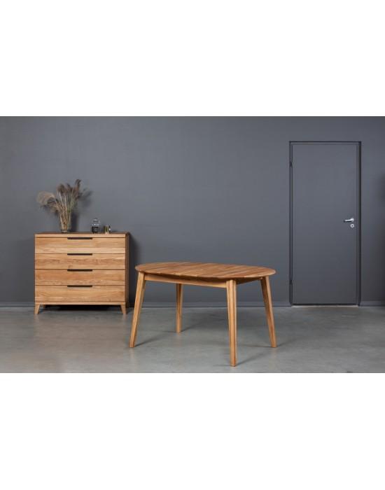 HOWDALA 140-180X90 ąžuolinis, prasiilginantis, stalas