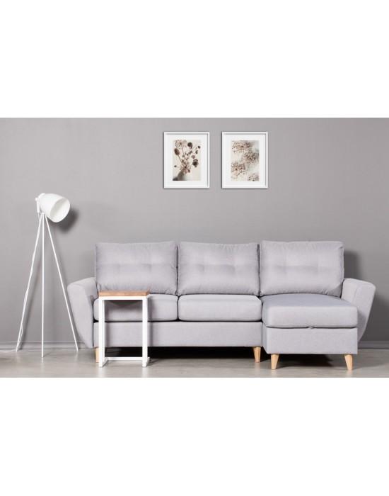 SELECT WHITE ąžuolinis 35x45x55 šoninis staliukas