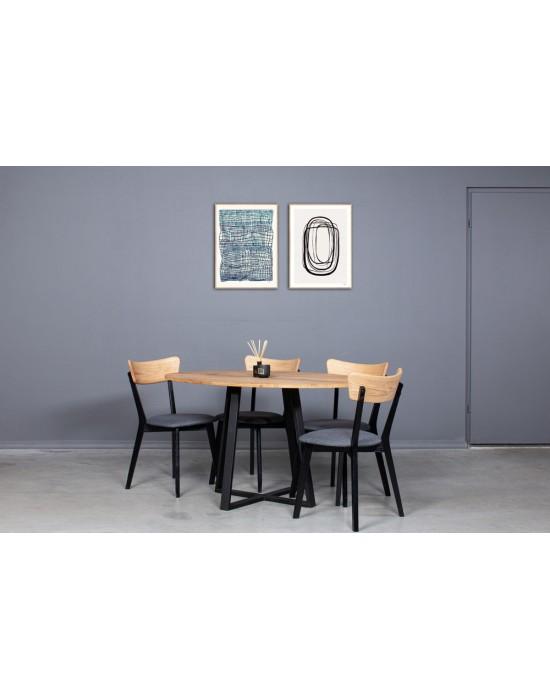 LOFT ELIPSE 140x90 ąžuolinis stalas
