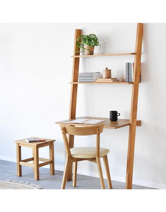 ALFA(84x50x182cm) su stalu ąžuolinė lentyna