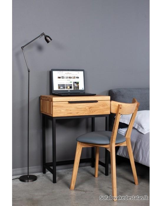 Ąžuolinis  darbo, kosmetinis  stalas  HUGO 60