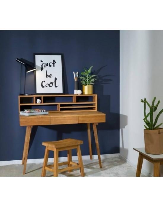 RETRO  120x65 su lentyna ąžuolinis darbo stalas
