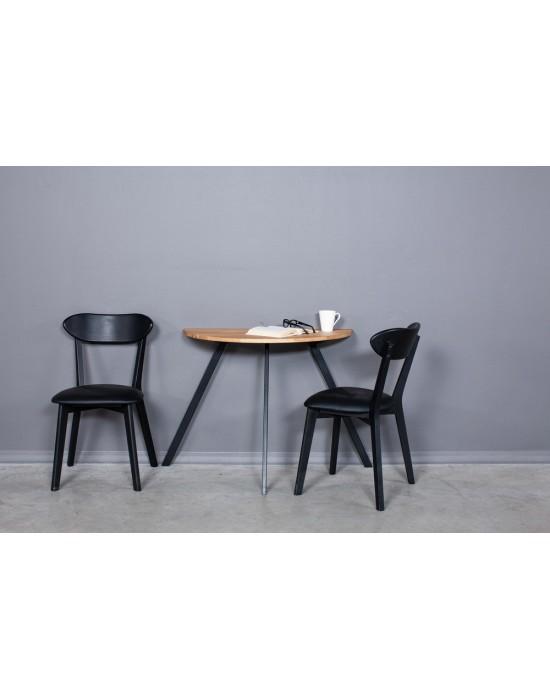 MOON TORI 90x45 ąžuolinis šoninis stalas