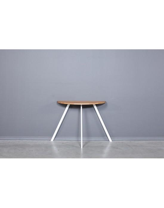 MOON TORI WHITE 90x45 ąžuolinis šoninis stalas
