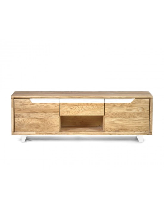 Ąžuolinis TV staliukas DANISH 150cm White