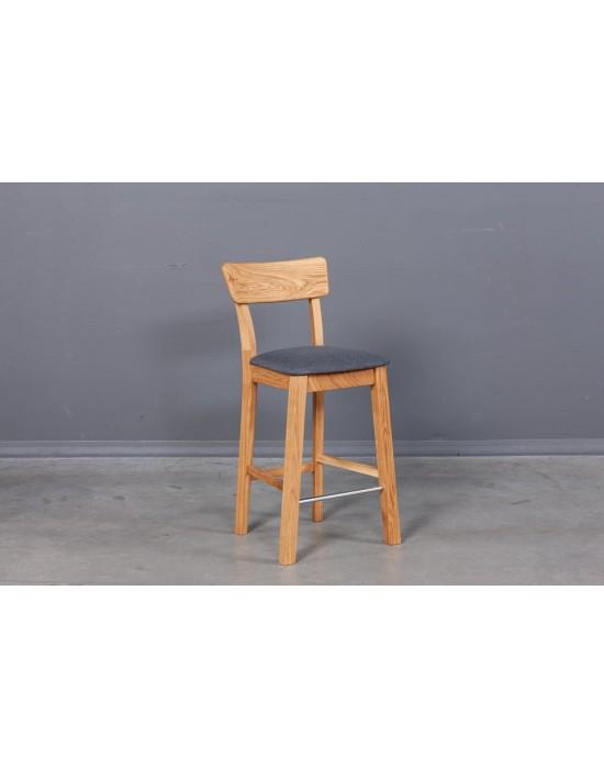 Ąžuolinė pusbario(61cm)kėdė DANA