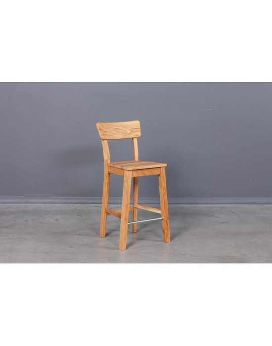 Pilnai ąžuolinė(61cm)pusbario kėdė Dana