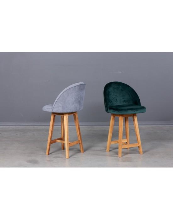 Minkšta Pusbario(62cm)kėdė SANNA oak base