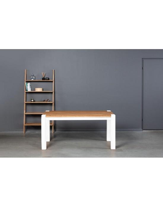 TAMMI WHITE 160-240x90  ąžuolinis, prasiilginantis  stalas