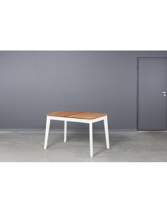 ISKU WHITE 110-145X70 ąžuolinis, prasiilginantis stalas