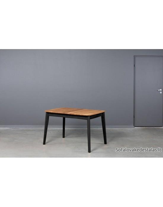 ISKU BLACK 110-145X70 ąžuolinis, prasiilginantis stalas