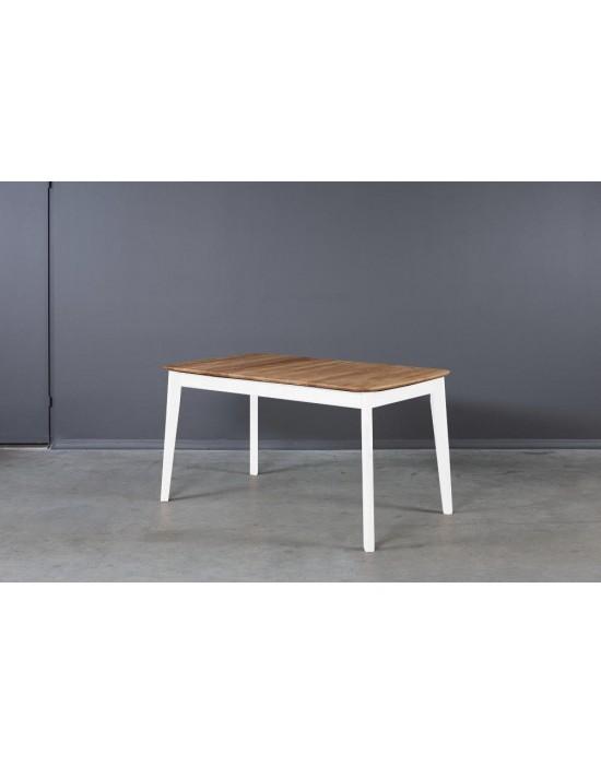 ISKU WHITE 140-185x80 ąžuolinis, prasiilginantis stalas