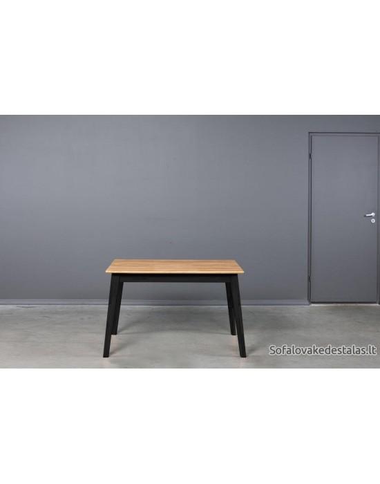 URBANO BLACK 120-200X80 ąžuolinis, prasiilginantis stalas