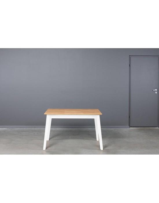 URBANO WHITE 120-200X80 ąžuolinis, prasiilginantis stalas