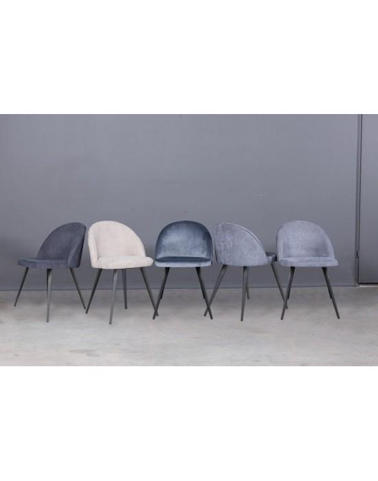 SANNA skandinaviško dizaino kėdė metalinėmis kojomis