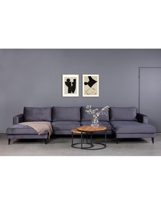 RIVIERA U  (156x386x156cm)  kampinė sofa