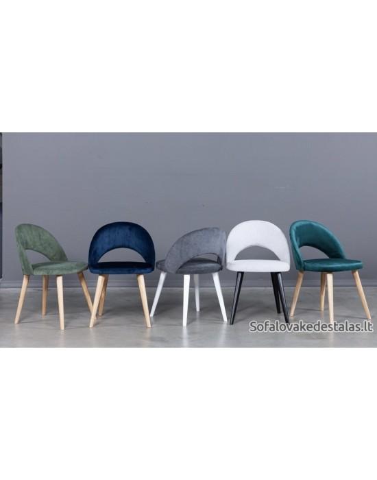 LILLI  skandinaviško dizaino kėdė medinėmis kojomis