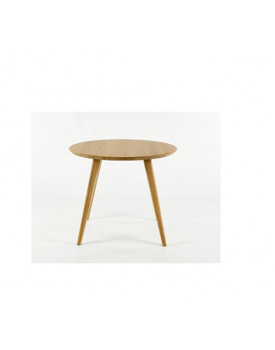LULA Ø100 apvalus, ąžuolinis stalas