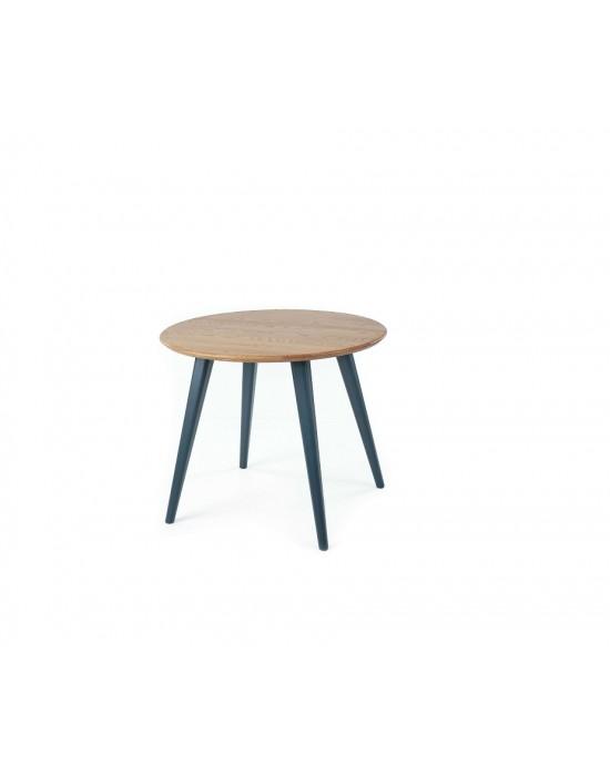 LULA BLACK Ø100 apvalus, ąžuolinis stalas