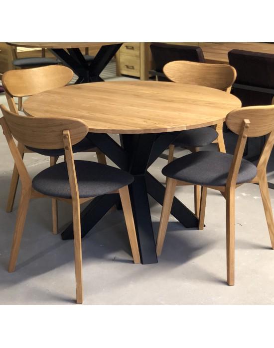 MODERNA APVALUS Ø110 industrinio stiliaus stalas