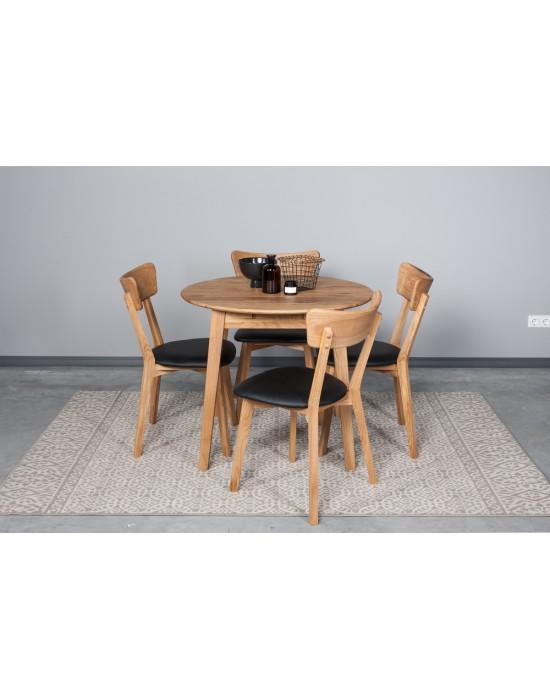 Apvalus ąžuolinis stalas GENOVA Ø90-130