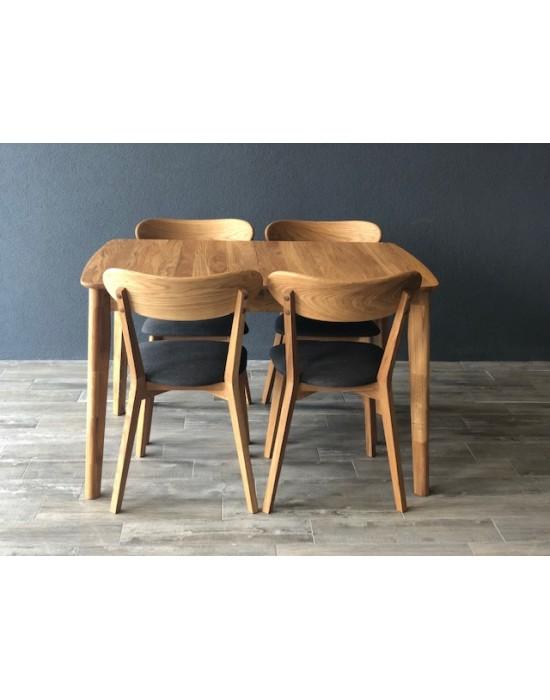 ISKU  ąžuolinis, prasiilginantis, stalas