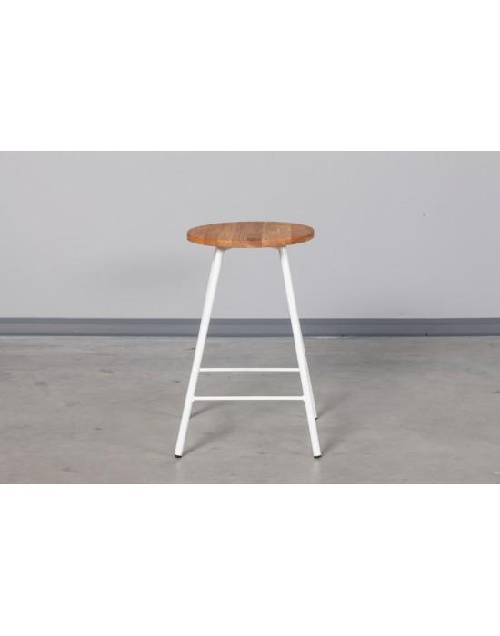 Pusbario(60cm)taburetė LOFT OAK&WHITE