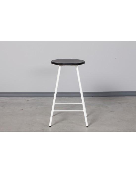 Pusbario(65cm)taburetė LOFT BLACK&WHITE
