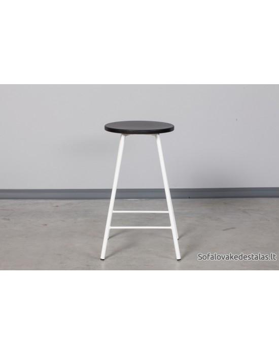 Pusbario(60cm)taburetė LOFT BLACK&WHITE