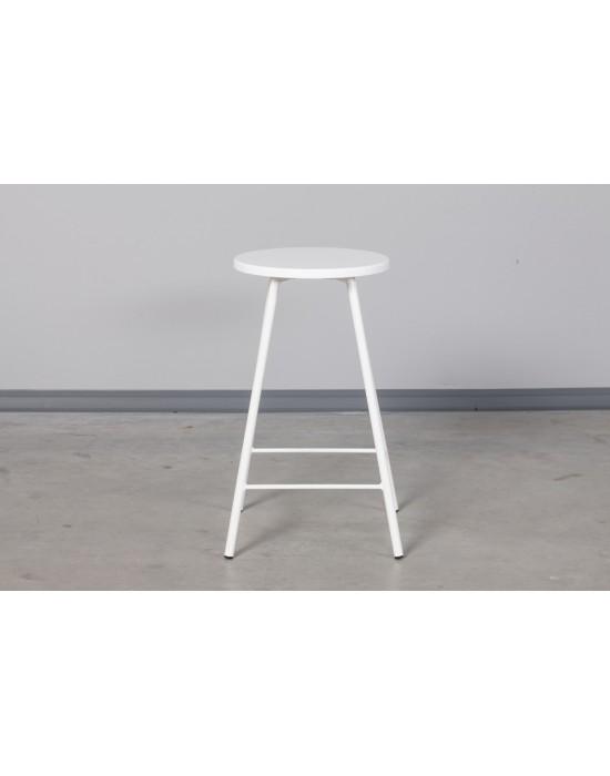 Pusbario(65cm))taburetė LOFT WHITE