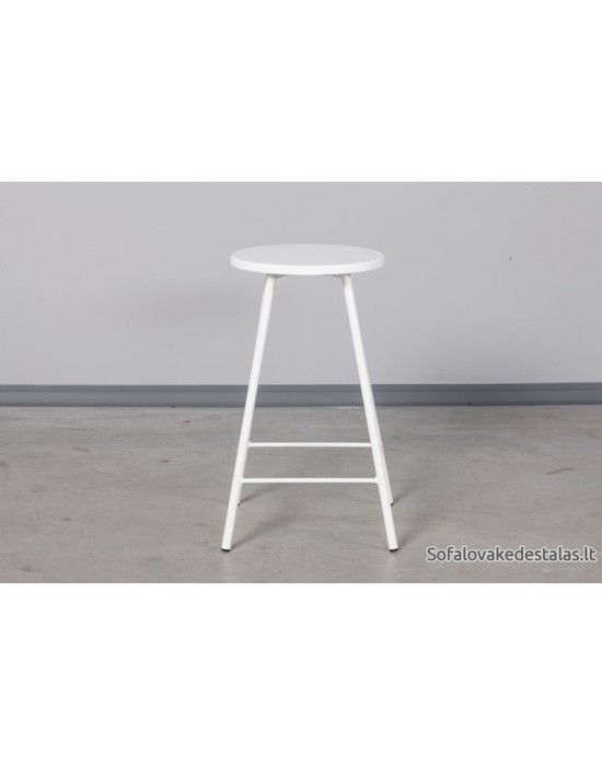 Pusbario(60cm)taburetė LOFT WHITE